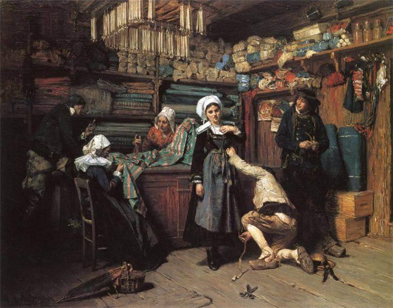 Анри Мослер Покупка свадебного приданого 1880 г.