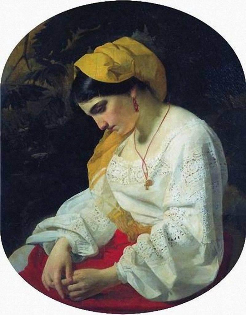 Капков Я.Ф. Невеста.1851 г.