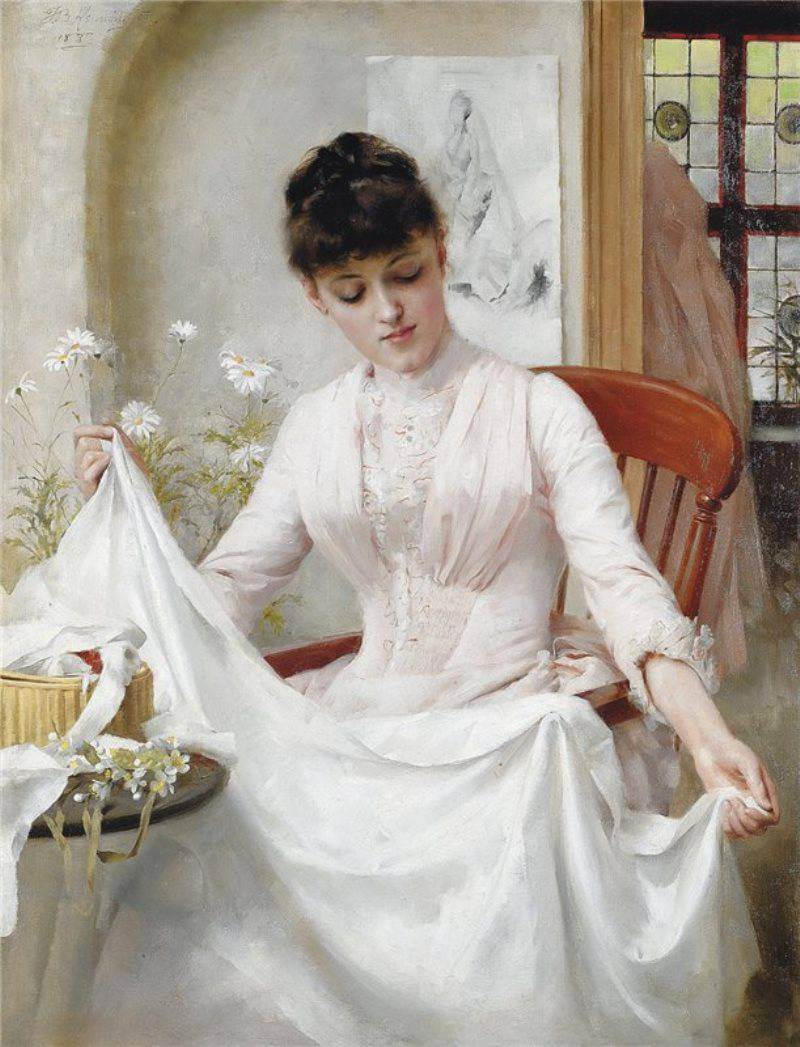 Thomas Benjamin Kennington The Wedding Dress